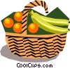 Fruit basket Vector Clip Art image