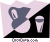 Orange juice Vector Clip Art picture
