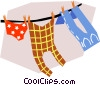 Vector Clipart graphic  of a Laundry