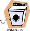 Clothes dryer Vector Clipart illustration