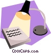 Vector Clip Art image  of a Desk lamps