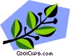 Vector Clipart illustration  of a Leaf