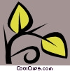 Leaf Vector Clip Art graphic
