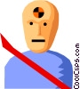 Vector Clipart image  of a Crash test dummy