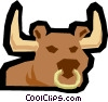 Bull Vector Clipart illustration