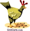 Vector Clip Art image  of a Chicken