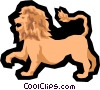 Vector Clip Art graphic  of a Lion