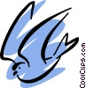 Vector Clip Art image  of a Bird
