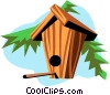 Birdhouses Vector Clip Art graphic