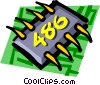 Vector Clip Art graphic  of a Computer chips