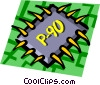 Vector Clipart picture  of a Computer chips
