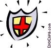 Vector Clip Art graphic  of a Shield symbol