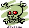 Vector Clip Art image  of a Pirate Skull & Crossbones