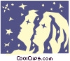 Vector Clip Art graphic  of a Sign of the zodiac - Gemini