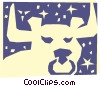 Vector Clip Art picture  of a Sign of the zodiac - Taurus