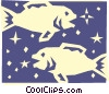 Sign of the zodiac - Pisces Vector Clipart illustration