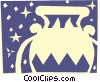 Vector Clip Art image  of a Sign of the zodiac - Aquarius