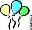 Vector Clip Art graphic  of a Party balloons