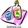 Vector Clip Art graphic  of a Liquor