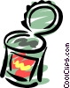 Canned food Vector Clip Art picture