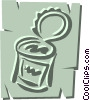 Vector Clip Art graphic  of a Canned food