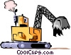 Vector Clipart image  of a Steam shovel