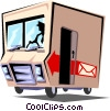 Delivery truck Vector Clipart picture