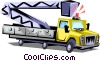 Vector Clip Art image  of a Cherry picker truck