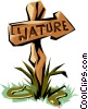 Vector Clip Art graphic  of a Nature sign