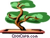 Vector Clip Art image  of a Bonsai tree