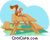 Vector Clipart illustration  of a Picnic table