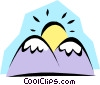 Vector Clipart graphic  of a Mountains