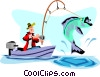 Vector Clipart graphic  of a Fishing