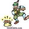 Leprechauns Vector Clipart picture