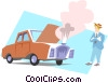 Vector Clip Art graphic  of a Car Repair
