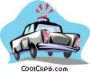 Police car Vector Clipart graphic