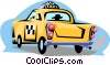 Vector Clipart graphic  of a Taxi