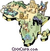 Vector Clip Art image  of an Africa