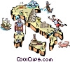 Vector Clip Art graphic  of a Italy