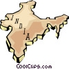 Vector Clip Art picture  of a India