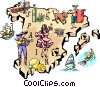Vector Clip Art image  of a Spain
