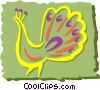 Vector Clip Art image  of a Peacock