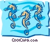 Vector Clip Art graphic  of a Seahorse