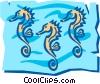 Vector Clip Art image  of a Seahorse