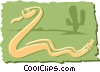 Vector Clipart picture  of a Snake