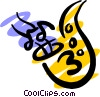 Vector Clipart picture  of a Saxophone