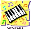 Vector Clip Art picture  of a Keyboard
