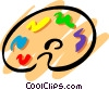 Vector Clip Art graphic  of an Artist's palette