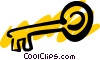 Vector Clip Art graphic  of a Key