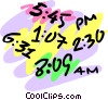 Vector Clipart picture  of a Time